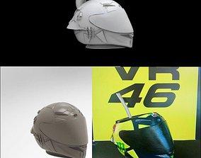 pack soleluna mate llavero y casco vr46 3D print model
