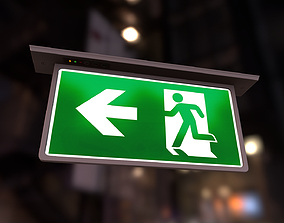 Emergency Exit Indicator 3D asset