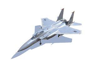 3D asset F-15 Eagle Jet Fighter Aircraft