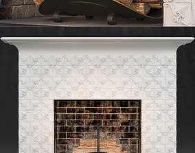 3D Fireplace and firewood
