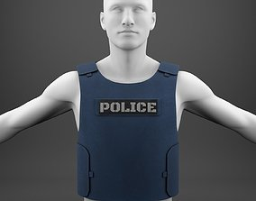 Flak Jacket bullet proof vest of police 3D model