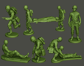3D printable model American Medic soldiers ww2 A8 Pack
