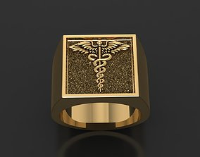 caduceus 3D print model Caduceus ring