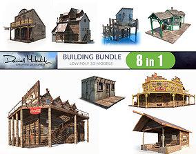 3D asset Building Bundle LOW POLY PBR