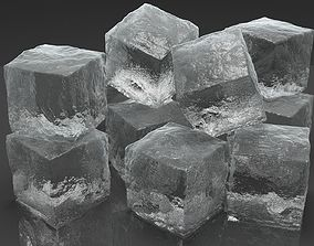 Ice Cubes for V-Ray 3D model