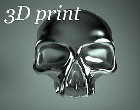 3D print model ring with skull