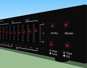 Equalizer with Spectrum Analyzer - Stereo 3D model