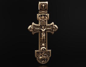 3D printable model Orthodox cross with savior and saints