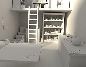 3D model Inside lab