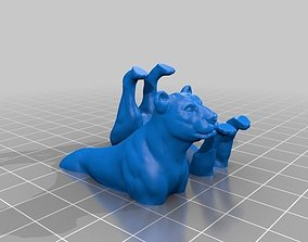 FDM ready Split Lioness 3D printable model
