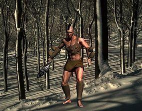 Tribal warrior quick 3D model