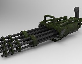 Double machine gun 3D model
