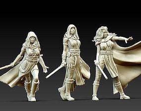 3D printable model Sith Jedi woman bundle - 3 miniatures 1