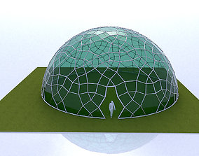 3D Geodesic Dome like structure with glass panels
