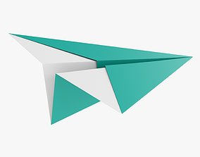 3D Paper airplane 02