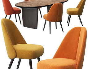 3D Identities chairs Patchwork table by Roche Bobois