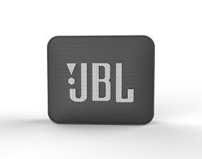 JBL GO2 BLACK SPEAKER -customizable speaker 3d model