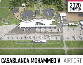 3D model Casablanca Mohammed V International Airport - CMN