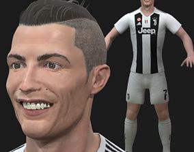 animated Christiano Ronaldo Model with Blend Shapes