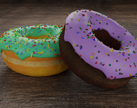 Tasty donuts 3D model
