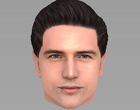 Handsome man head TYPE 1 3D