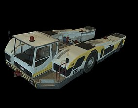 3D asset Airplane Pushback Tug
