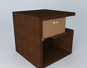 3D bedside table nightstand