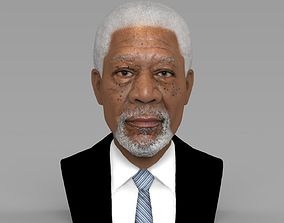 Morgan Freeman bust ready for full color 3D