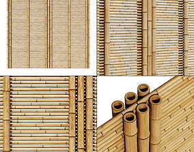 3D model Bamboo branch wall panel