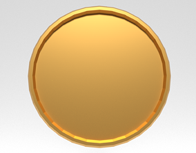 Gold Coin 3D Model Low Poly VR / AR ready