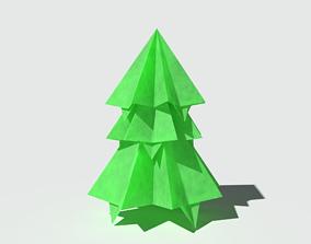 Origami Pine Short 3D model