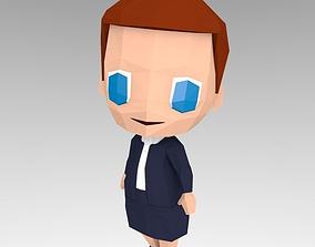 3D model Woman in suit