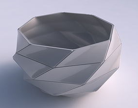 Bowl spheric twisted with large plates 3D print model