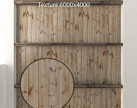 3D asset Wooden ceiling with beams 1