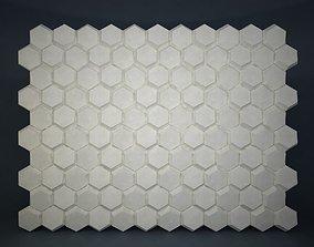 01 HEXAGON MOSAIC PATTERN WALL 3D