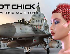 3D model Hot Chick for Genesis 8 Female