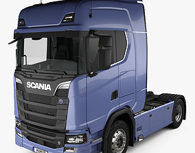 3D Scania S Highline Tractor Truck 2-axle with HQ interior