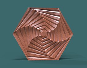 Hexagonal wall panel 3d stl model for cnc