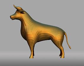 Bull cartoon 3D asset game-ready