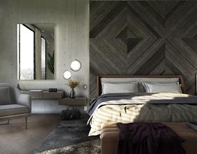 low-poly Interior Scene Bedroom for 3dsMax HDRI Light