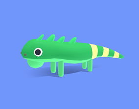 Iggy the Iguana - Quirky Series 3D asset