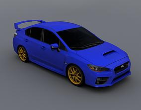 3D model 2016 Subaru WRX STI