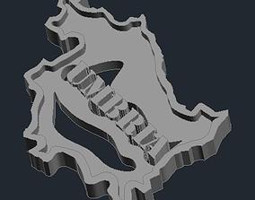 Regione Umbria 3D printable model