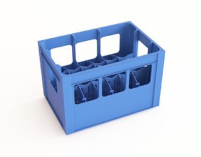3D model Plastic crate 32