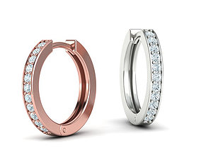 Hoop earrings 17mm 3dmodel printable