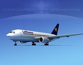 3D model Boeing 767-100 Lufthansa