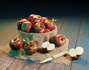 Bucket Filled With Apples 3D print model