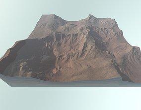 3D hill Desert mountain