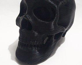 portable 3D printable model Skull Herb Grinder