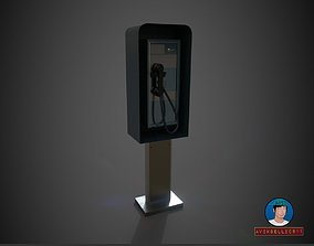 3D model Low Poly Payphone